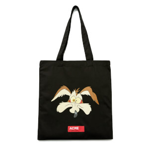 Looney Tunes ACME Capsule Wile E. Coyote Face Tote Bag - Black