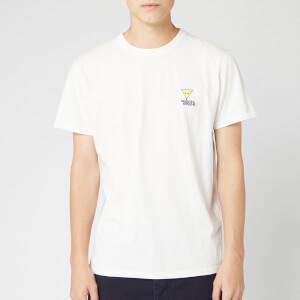 Maison Kitsuné Men's T-Shirt Smiley Fox Patch - White