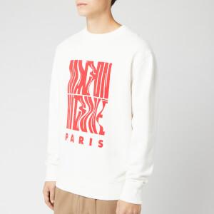 Maison Kitsuné Men's Sweatshirt Wavy MK - White