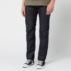 Edwin Men's Ed-55 Rainbow Selvage Tapered Jeans - Blue Unwashed