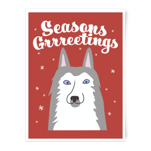 Seasons Grrreetings Art Print