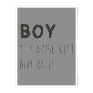 Boy Definition Art Print