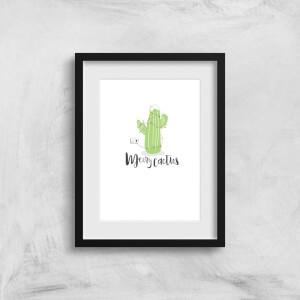 Merry Cactus Art Print