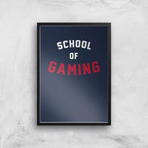 School Of Gaming Art Print