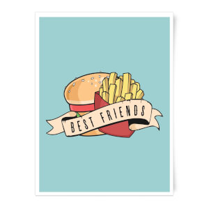 Fast Food Friends Art Print