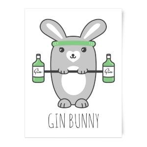 Gin Bunny Art Print