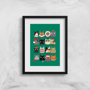 Christmas Cats Art Print