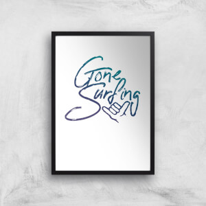 Gone Surfing Art Print