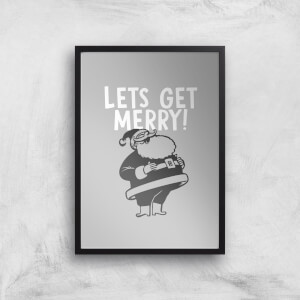 Lets Be Merry Art Print