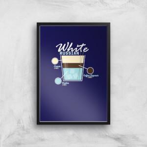 Infographic White Russian Art Print