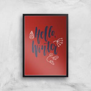 Hello Winter Art Print