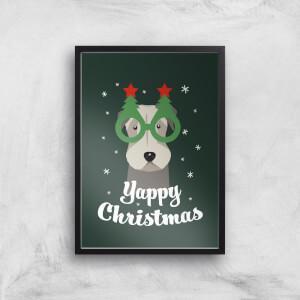 Yappy Christmas Art Print