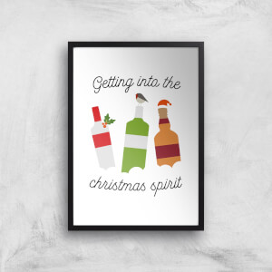 Getting Into The Christmas Spirit Art Print