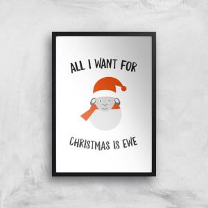 All I Want For Christmas Is Ewe Art Print