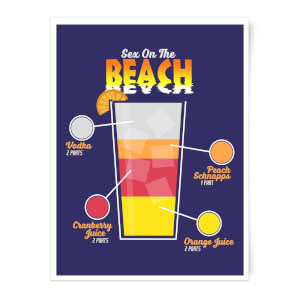 Infographic Sex On The Beach Art Print