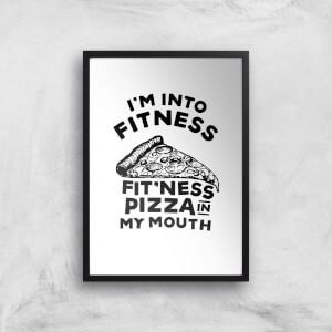 Fitness Pizza Art Print