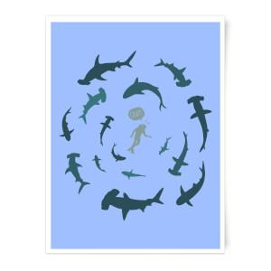 Crap Sharks Art Print