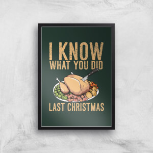 I Know What You Did Last Christmas Art Print