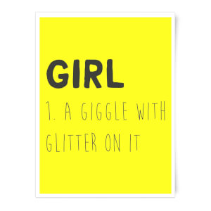 Girl Definition Art Print