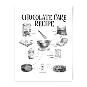 Chocolate Cake Recipe Art Print
