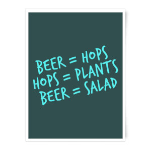 Beer Salad Art Print