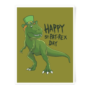 Happy St Pat-Rex Art Print