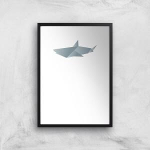 Origami Shark Art Print