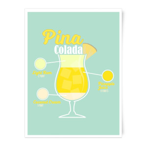 Infographic Pinacolada Art Print