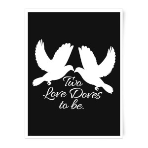 Two Love Doves Art Print