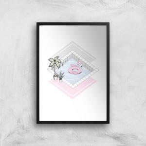 Flamingos Paradise Art Print