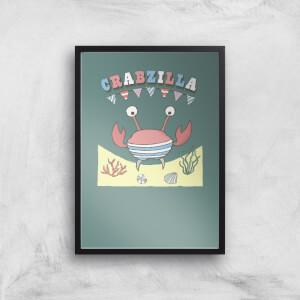 Crabzilla Art Print
