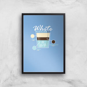 Infographic White Russian Art Print