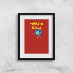 Monster Skillz Art Print