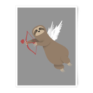 Sloth Cupid Art Print