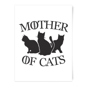 Mother Of Cats White Tee Art Print