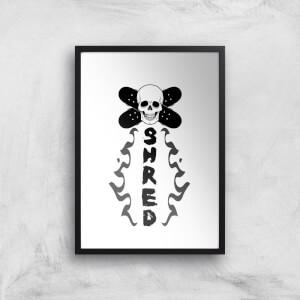Shred Skateboards Art Print