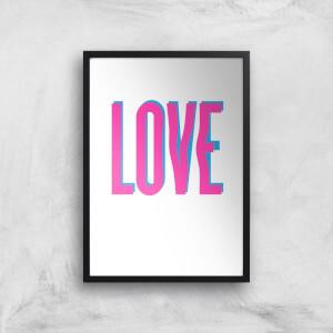 Love Glitch Art Print