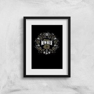 Hoppy New Beer Art Print