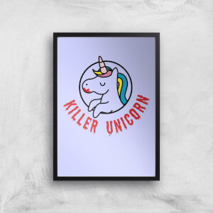 Killer Unicorn Art Print