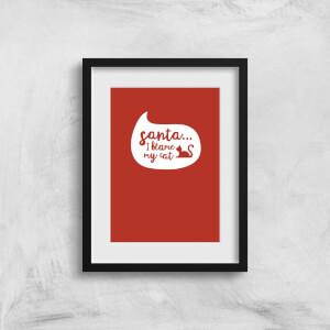 Santa I Blame The Cat Art Print