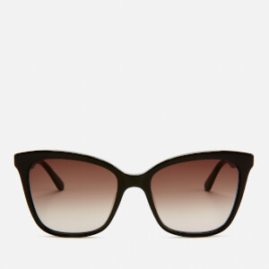 Karl Lagerfeld Women's Butterfly Frame Sunglasses - Black