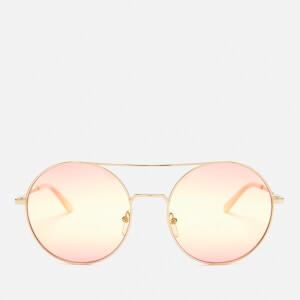 Karl Lagerfeld Women's Round Frame Sunglasses - Golden/Pink