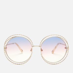 Chloe Women's Carlina Round Frame Sunglasses - Gold/Rainbow Lens