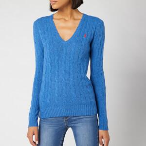Polo Ralph Lauren Women's Kimberly Classic Long Sleeve Jumper - Gentian Blue Heather