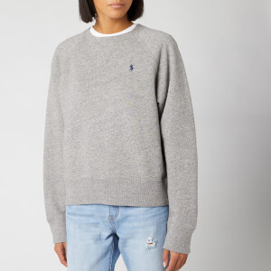 Polo Ralph Lauren Women's Raglan Sweatshirt - Dark Vintage Heather