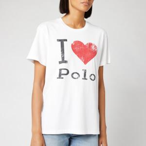 Polo Ralph Lauren Women's Big Heart Short Sleeve T-Shirt - White