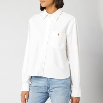 Polo Ralph Lauren Women's Polo Long Sleeve Shirt - BSR White
