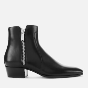 Balmain Men's Mike Leather Boots - Black
