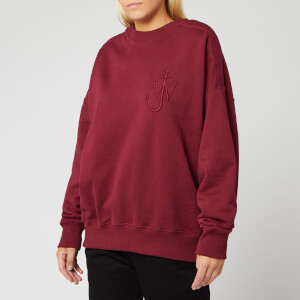 JW Anderson Women's Oversized Shoulder Placket Sweatshirt - Malbec