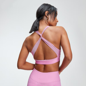 Brassière Sport Power Cross Back - Rose Bonbon